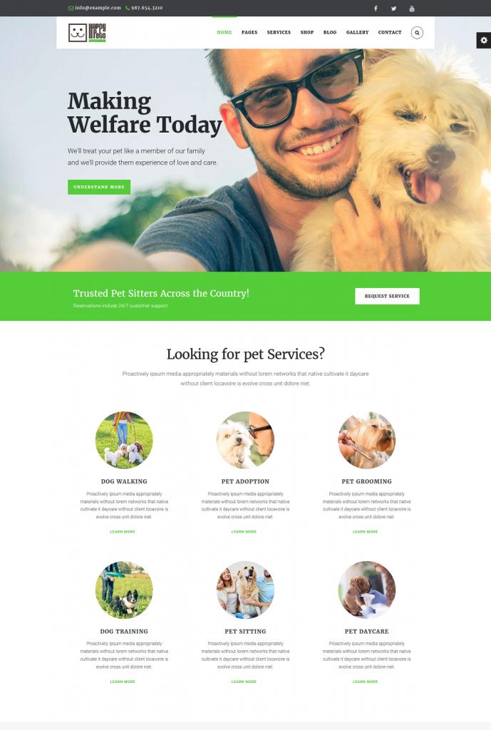 HappyPets – WordPress Theme
